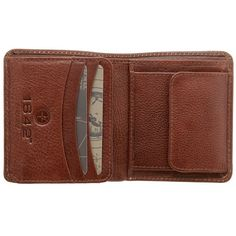 1642 Vachetta Two Fold Mens Vertical Leather Wallet with Coin Pocket Brown or Black - £19.00 available from www.kubi.co.uk - Christmas presents for men birthday gifts for him sons brothers teenage boys teenagers friends male friends boyfriends husbands male gifts hard to buy for hubby