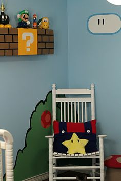 Our nursery is the coolest geek nursery ever...if I do say so myself! :) Super Mario Brothers