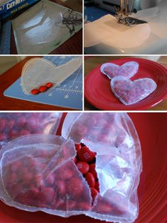 DIY valentines: waxed paper