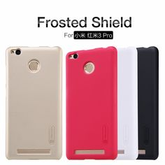 xiaomi redmi 3 Pro case NILLKIN Super Frosted Shield back cover for redmi 3 Pro with free screen protector and Retail package