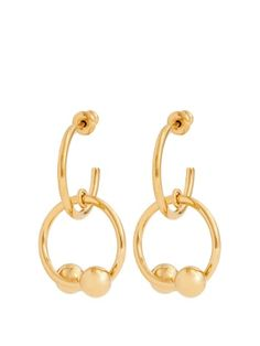 Chloé Gold-tone hoop and pearlised drop earrings hZZnRz