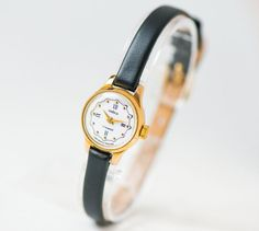 Tiny gold plated watch her women's watch Seagull by SovietEra