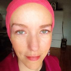 """Here I am on a """"good day,"""" 1 month and 5 days into a dose-dense chemo schedule with Adriamycin and Cytoxan. This is 10 days after my third AC infusion. 5 days earlier I was a zombie. I am bald and I've lost 20 pounds, among many other radical physical changes the chemo brings."""