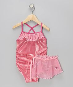 Take a look at this Pink Rosie Leotard & Wrap Skirt - Toddler & Girls by Orangia Blossom on #zulily today!