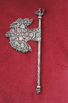 Judaica Antique Large Silver Purim Grogger Noisemaker Rattle