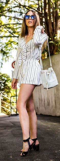 Striped Romper Summer Style