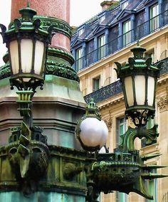 bluepueblo:        Lanterns, Paris, France        photo via lorraine