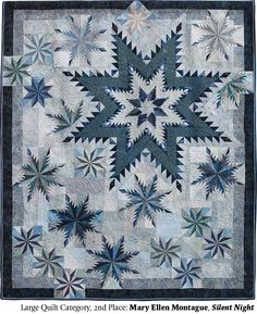 Silent Night by Mary Ellen Montague.  2014 Northwest Quilting Expo. 2nd place, Large Quilt category.