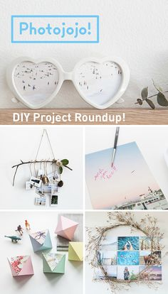 Get creative with your prints! We've rounded up a legit plethora of DIY projects for your photos.