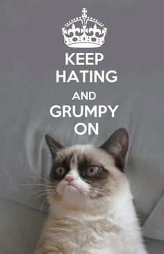Awww Grumpy Cat, you're so cute!