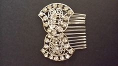 Sale Bridal comb Beautiful original by LaBelleEpoqueAntique