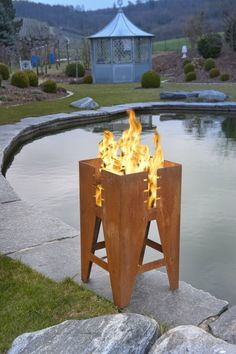 fire place - corten steel by Keilbach via www.qiphome.com