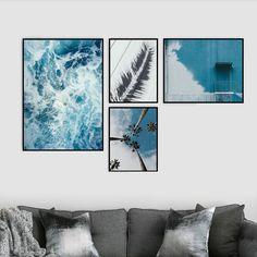 Tropikalne plakaty do wnętrza w stylu skandynawskim.