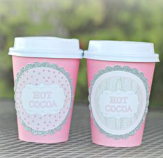 Girl Winter ONEderland/ Winter Wonderland 1st Birthday Party Hot Cocoa / Hot Chocolate Cups.  Set of 20.  Pink/ Silver / Sweater by CharmingTouchParties on Etsy