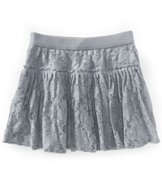 Areopostale Solid Lace Woven Skirt