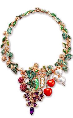 Rosamaria G Frangini | High Colorful Jewellery | TJS | Dior Fine Jewelry Necklace