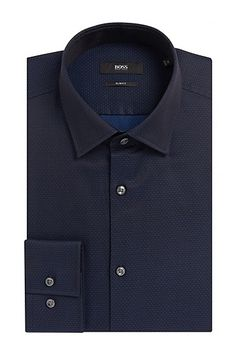 'Jenno' | Slim Fit, Cotton Dress Shirt