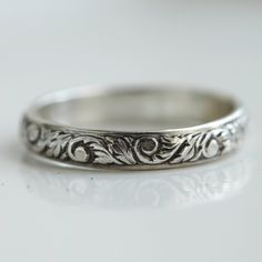 Sterling Silver Band Ring Stacking Ring. $45.00, via Etsy.