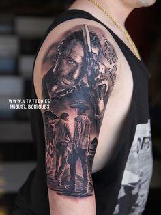 the walking dead rick grimes tattoo copia
