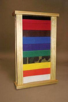 Jiu-jitsu belt display case. -need to get this for nick
