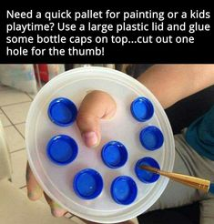 A great artist idea for kids or small design parties/projects