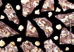 Toffee popcorn bark