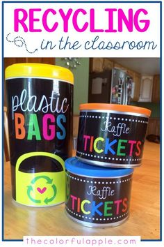 A recycled diy project for the classroom!  Reuse old containers and spend less money on classroom decor.  So easy!