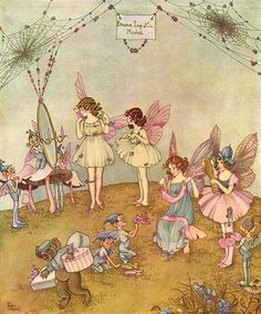 Ida Rentoul Outhwaite ~ A Fairy Frock ~ The Enchanted Forest ~ 1921