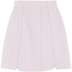 Giambattista Valli Bouclé Skirt (7.430 NOK) ❤ liked on Polyvore featuring skirts, rose, giambattista valli, rose skirt, giambattista valli skirt, wet look skirt et pink skirt