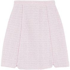 Giambattista Valli Bouclé Skirt (7.430 NOK) ❤ liked on Polyvore featuring skirts, rose, giambattista valli, rose skirt, giambattista valli skirt, wet look skirt et pink skirt