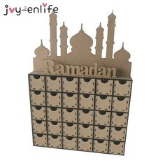 Event & Party Islam Eid Ramadan Mubarak Wooden Lanterns Pendant Decoration Party Supplies Holiday Decoration Holiday Gift High Quality Good Heat Preservation