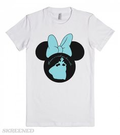 """Cinderella in Minnie Mouse ears t-shirt by My heart has ears. A sweet silhouette of Princess Cinderella sits inside a Minnie head.  The top has the famous lyric """"A dream is a wish your heart makes.""""  Available in Women's, Men's, Children's and infant sizes in a variety of colors and styles. Want to add a name or other text? Just email me for your custom design at Angela@myhearthasears.com"""
