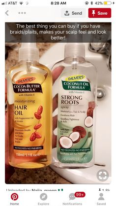 Palmer's Moisturizing Hair Oil adds a glowing, glossy look to your locks. This luxurious hair care product adds shine, smooths frizz and nourishes your scalp with peppermint oil, cocoa butter and keratin. Natural Hair Tips, Natural Hair Styles, Natural Hair Growth, Curly Girls, Twisted Hair, Hair Cleanser, Baking Soda Shampoo, Brittle Hair, Hair Growth Tips