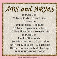 Ab and Arm Workout - Fitness