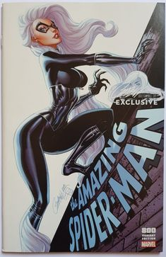 MARVEL The Amazing Spider-man Cover C (Black Cat) - Scott Campbell Exclusive sold by Sabine Rich's shop. Comic Book Artists, Comic Book Characters, Comic Artist, Marvel Characters, Comic Character, Comic Books Art, Black Cat Marvel, Spiderman Black Cat, Amazing Spiderman