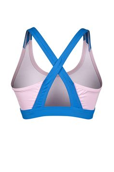 RAINHA DAISY F - top com recortes frontais costura 2 agulhas, barra contrastante e elástico interno, alças contrastantes em X nas costas com recorte vazado inferior.