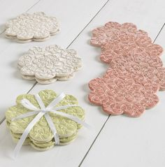 Lace pottery makes a pretty addition to any table