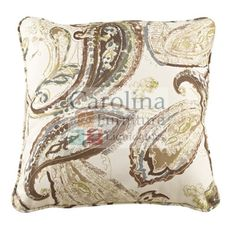 Beautiful Paisley Accent Pillow The Estin transitional decorative pillows will enhance your living space