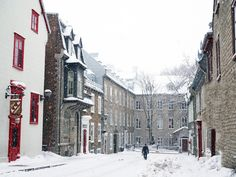 Photographic evidence as to why one must witness Quebec City in winter at least once in one's lifetime + helpful tips for planning a memorable trip. Places To See, Places Ive Been, Quebec Winter, Canadian Travel, Canada, Quebec City, How To Memorize Things, Street View, Europe