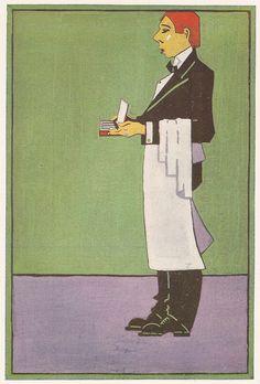 Poster design by Edward McKnight Kauffer, 1916