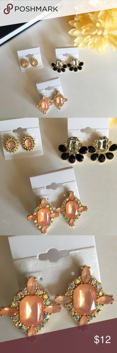 Brand New Beautiful Fashion Earrings!!! 🎉🎊🎉 💕🌸 Gorgeous earrings for sale!! Great accessories to make any outfit pop 💕 pull your outfit together with these beautiful statement earrings 💕🌸 great deal: all come as a set!! 🎉🎊 I accept offers so don't hesitate to ask 😘 NOT KATE SPADE JUST PUT FOR EXPOSURE kate spade Jewelry Earrings