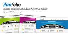 iloofolio - Clean and Slick Portfolio theme [PSD]
