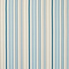 Mylor Stripe Linen/Cotton Fabric Midnight At LAURA ASHLEY