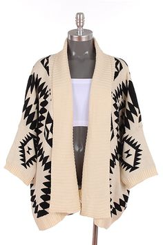 Aztec Printed Cardigan | Oversized Sweaters & Cardigans-Hot Fall ...