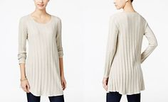 Style & Co. Ribbed Sweater Tunic, Only at Macy's
