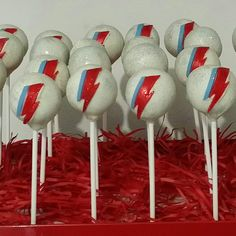 Ziggy Stardust theme cakepops by idopops 14th Birthday, Birthday Parties, Birthday Ideas, David Bowie Birthday, Alternative Wedding Venue, Ziggy Stardust, Space Theme, Food Themes, Cake Designs