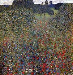 Poppy Field, Gustav Klimt 1907