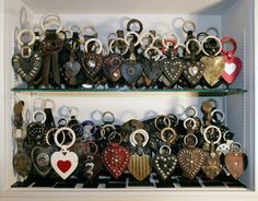 Large Collection of martingale hearts (horse breast collar decoration) V