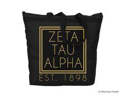 ZTA Foil Frame Tote   Boutique Greek