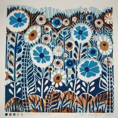 $58.00 Lino Print from Etsy Shop Zebedee Print. Love it! #Etsy #Art #home